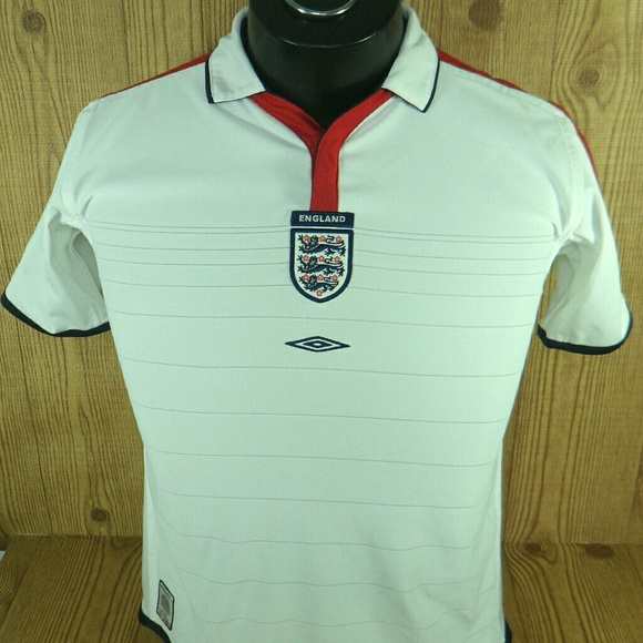 best service 6bba7 ef438 Umbro England National Football Team Soccer Jersey